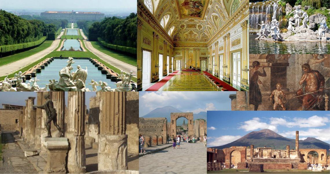 Reggia di Caserta e Pompei