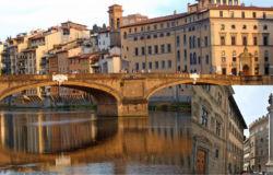 Il ponte e la chiesa Santa Trinita - Firenze