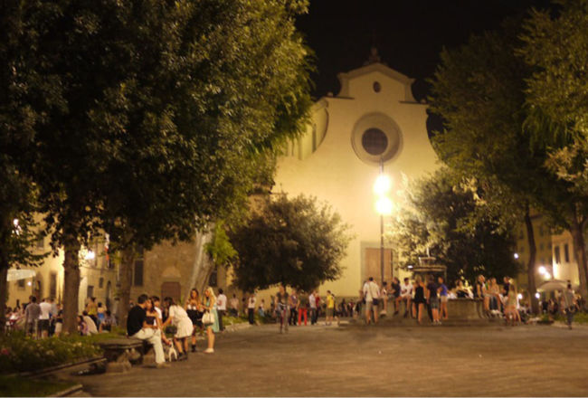Passeggiata notturna in Oltrarno di fine estate
