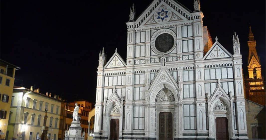 Itinerario notturno nel quartiere di Santa Croce