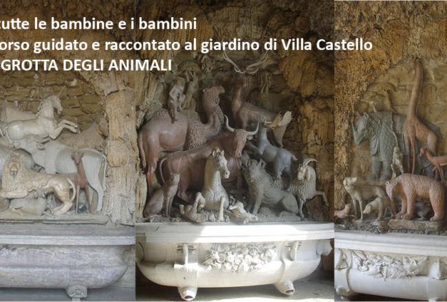 a Villa Castello, Passeggiata per tutti i bambini, tra piante e animali fantastici