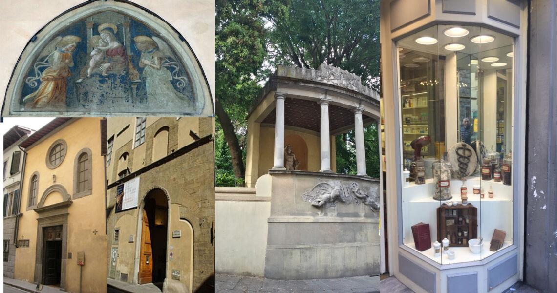 Passeggiata in Via Romana a Firenze da P.za della Calza a P.za San Felice