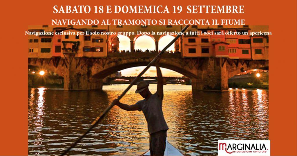 Navigando al Tramonto si racconta il fiume Arno